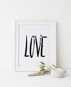 Poster zur Hochzeit Love