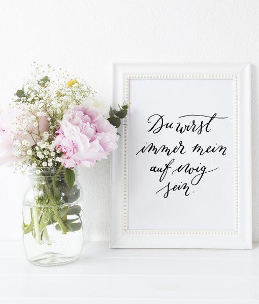 moderner Trauspruch Hochzeit Print