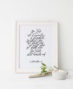korintherbrief Poster zur Hochzeit