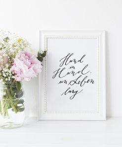 Hand in Hand ein Leben lang Poster Hochzeit, Geschenk Hochzeit, Hochzeitsgeschenk Hochzeit Trauspruch
