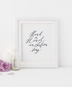 Poster Hochzeit, Geschenk Hochzeit Hand in Hand ein Leben lang