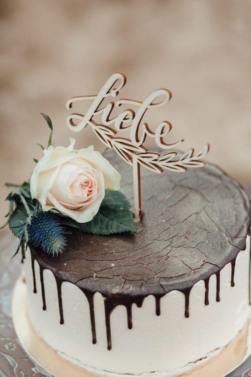 Cake Topper und Tortenfigur Liebe für Hochzeit