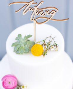 Cake Topper Auf Ewig Hochzeit