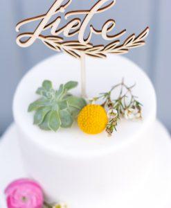 Cake Topper Liebe Hochzeit Tortendeko