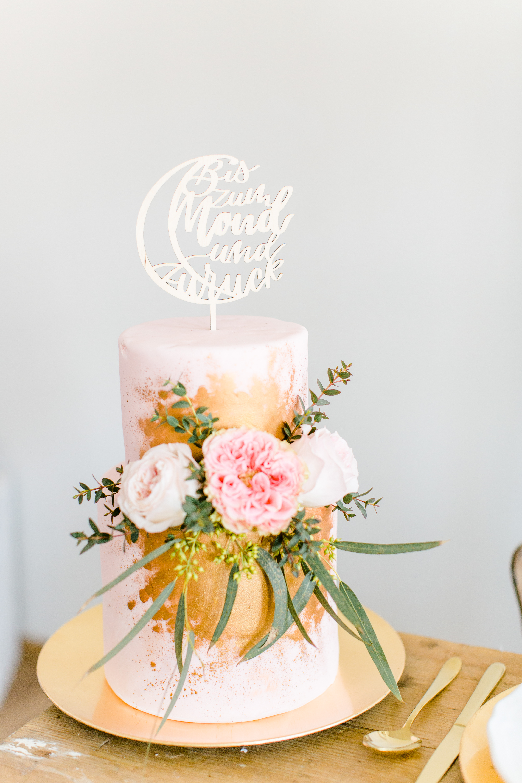 Cake Topper Und Tortenfigur Bis Zum Mond Und Zurück Für Hochzeit Und Taufe Aus Holz