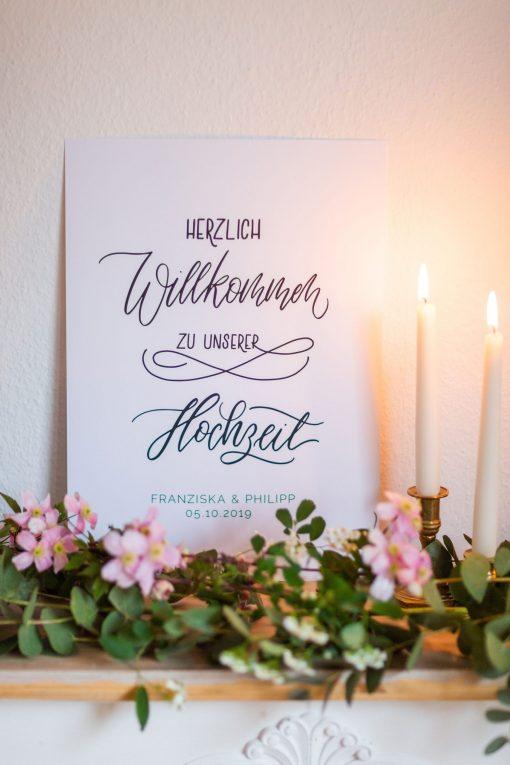 Schild Hochzeit Willkommen, Hochzeitsschild Herzlich Willkommen, Hochzeitsposter Willkommen, personalisiert Hochzeitsschild