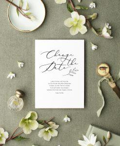 Change the Date Karte deutsch, Change the Date Karte Hochzeit verschieben wegen Corona