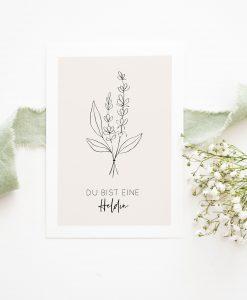 Karte Heldin, Alltagshelfer Danke, Karte Danke Alltagshelfer, Muttertag Karte, Karte Mama Geburtstag