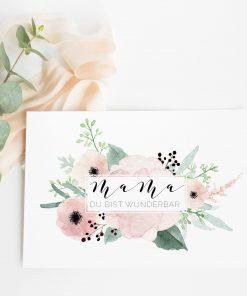 Muttertag Karte, Muttertagskarte, Geschenk Muttertag Idee, Karte Mama Geburtstag