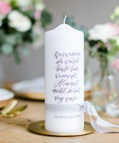 Gedenkkerze Hochzeit, Trauerkerze Hochzeit, Gedenkkerze Verstorbene personalisiert